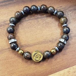 Bronzite & Hematite Beads Bracelet